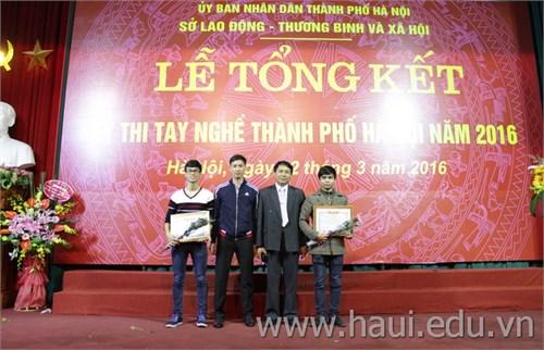 Trường Đại học Công nghiệp Hà Nội đạt thành tích cao tại kỳ thi tay nghề thành phố Hà Nội