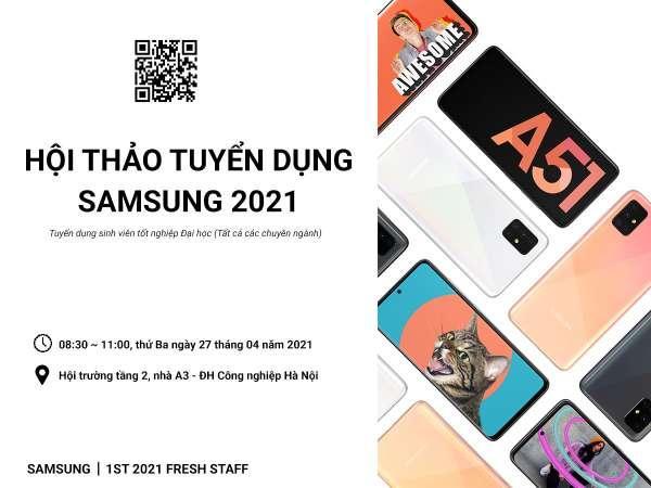Thông báo tổ chức Hội thảo việc làm của Công ty TNHH Samsung Electronics Việt Nam - 27/04/2021